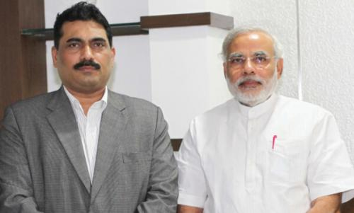 Mr. Chandrakant Salunkhe - Founder & President, SME Chamber of India with Mr. Narendra Modi - Hon'ble Prime Minister of India during Interactive Meeting -File Photo